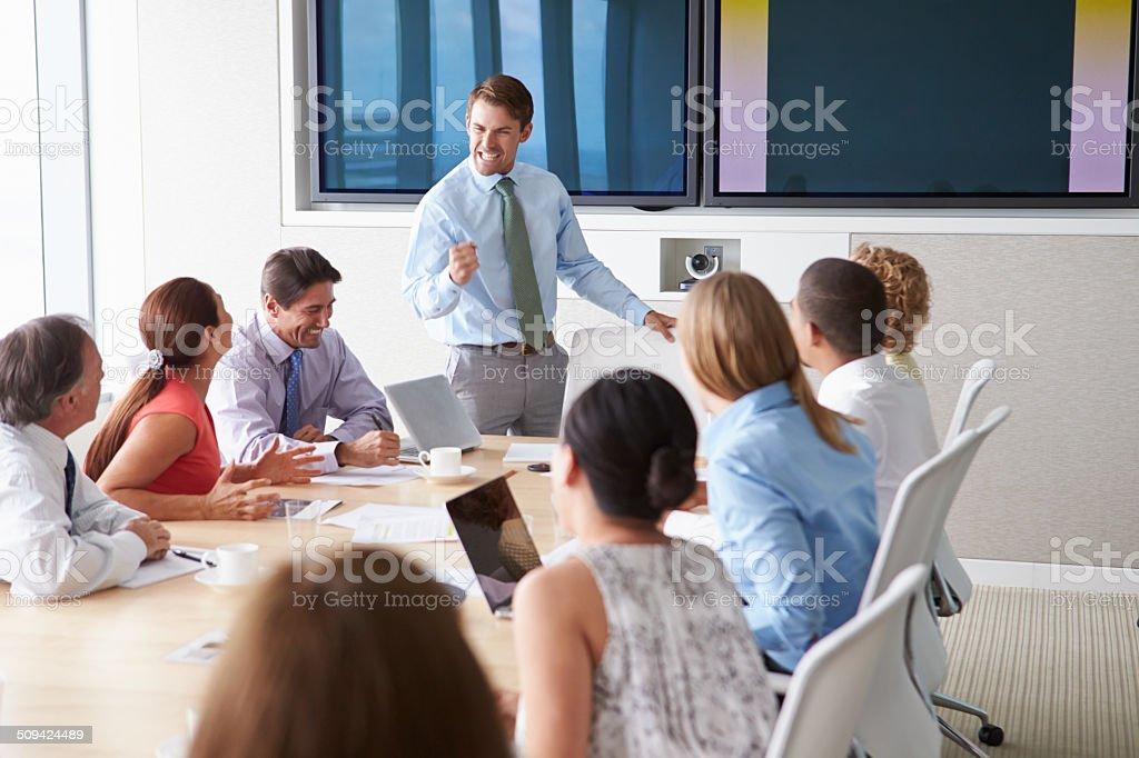 Motivacional Orador Hablar Con Los Empresarios En La Sala De