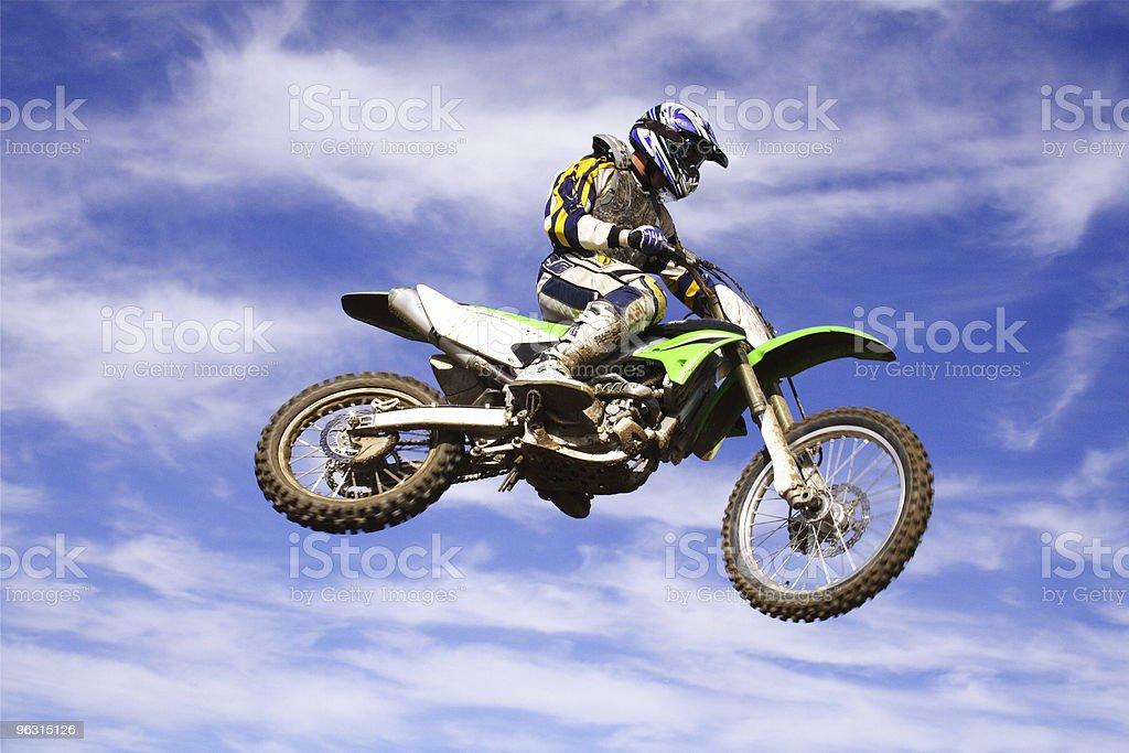 moto cross jump stock photo