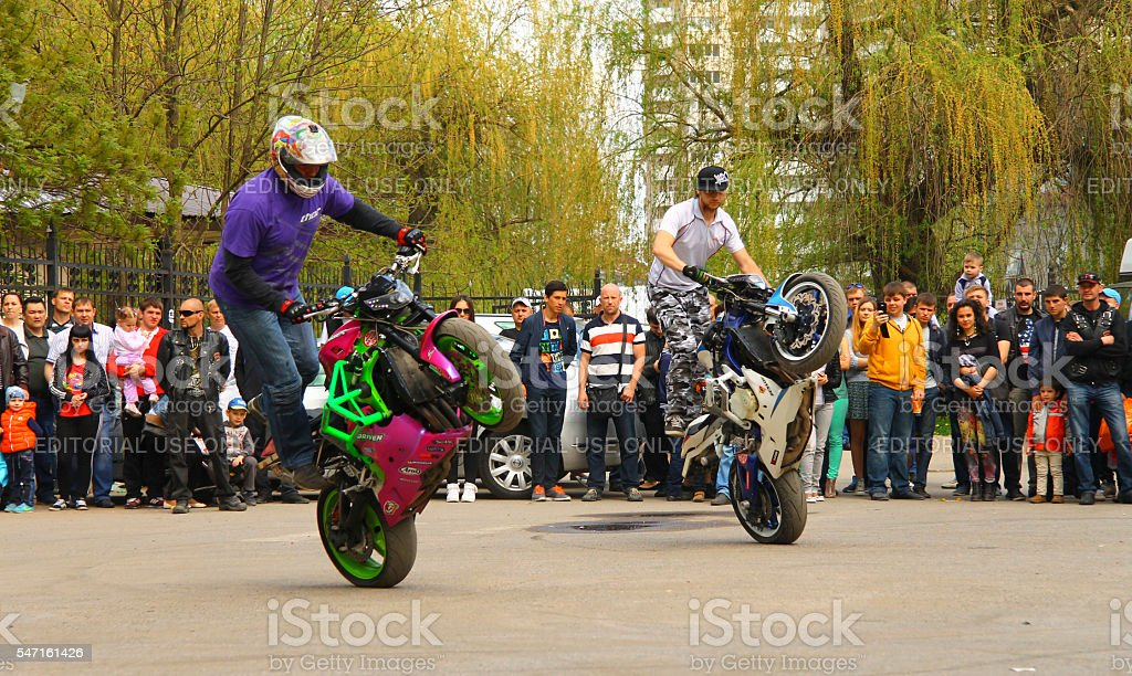 Motofree moto free style pilot stunting on the square stock photo & more