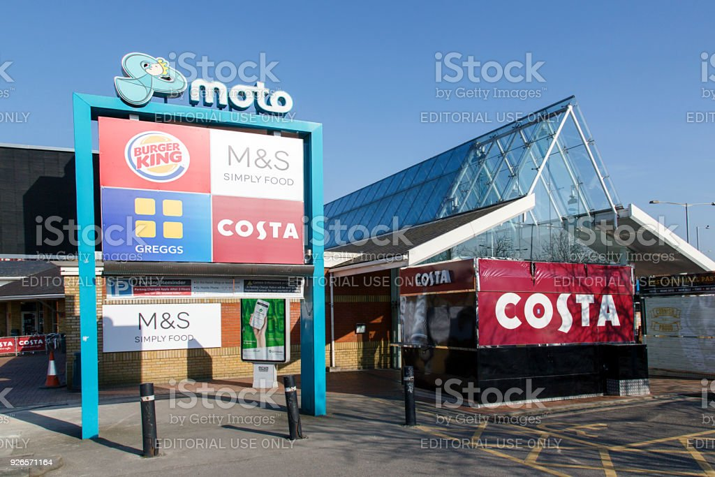Moto Motorway Services Reading - M4 East stock photo