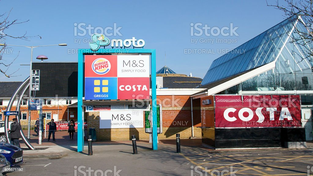 Moto Services Reading - M4 East stock photo