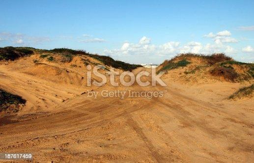 Motocross and motosport track