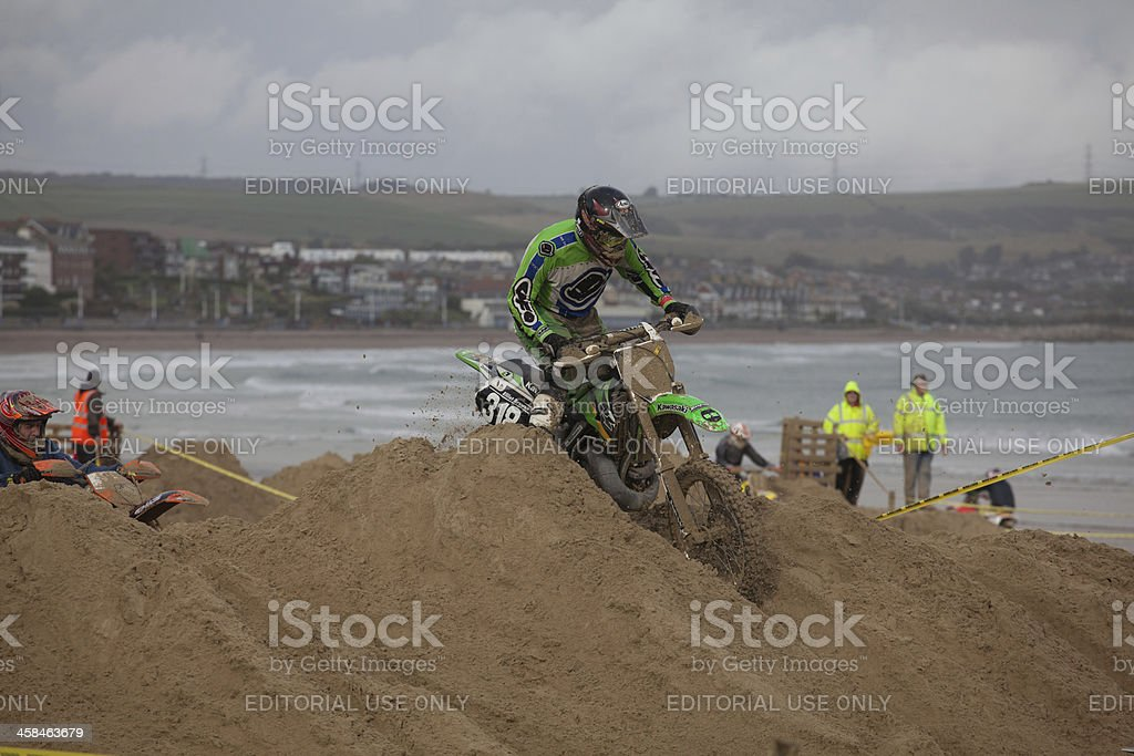 Motocross Dirt Bike Race On The Beach At Weymouth Stock Photo Istock
