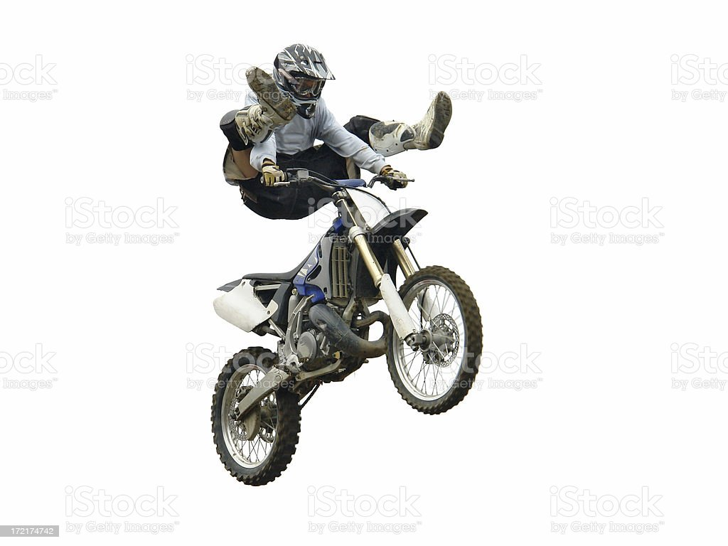 Motocross freestyle jump royalty-free stock photo