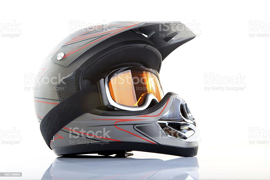 Motocross Helmet stock photo