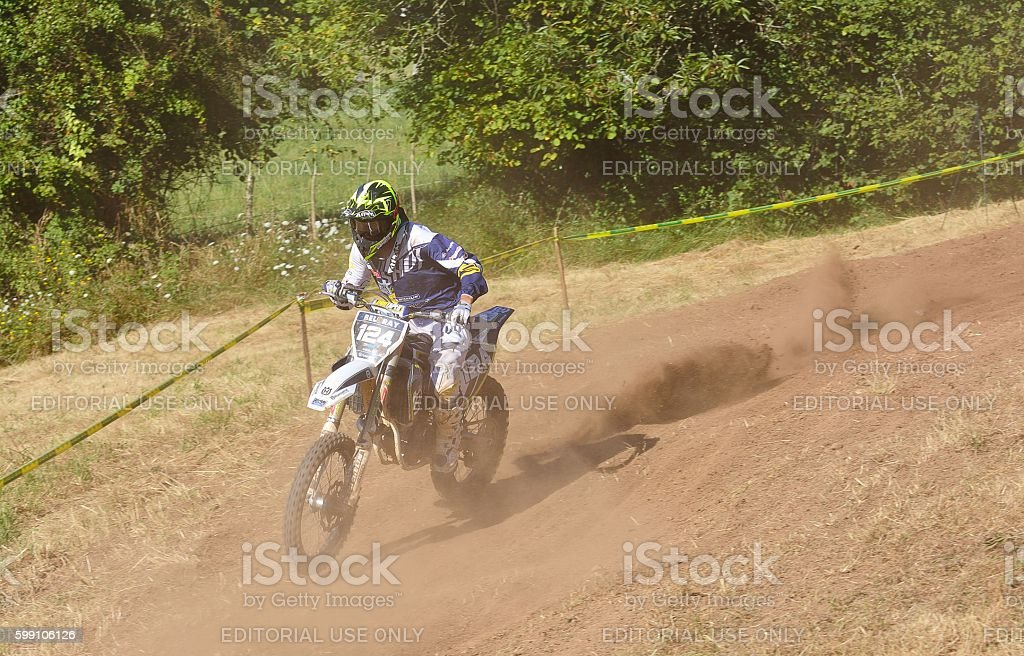 Motocross in Sariego, Spain. stock photo