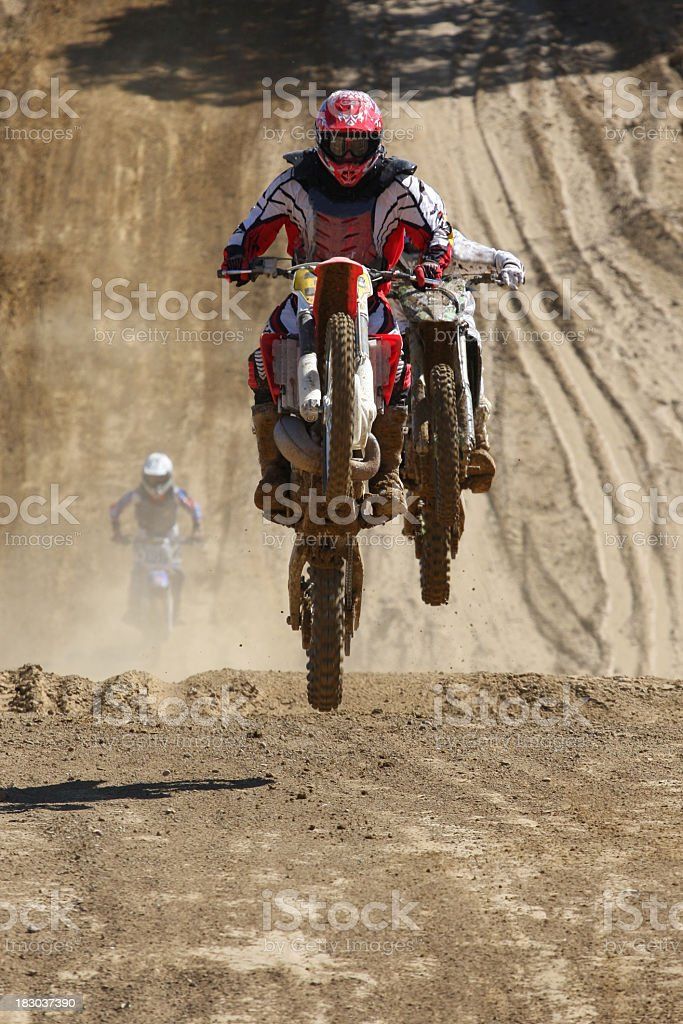 Motocross Jumpers royalty-free stock photo