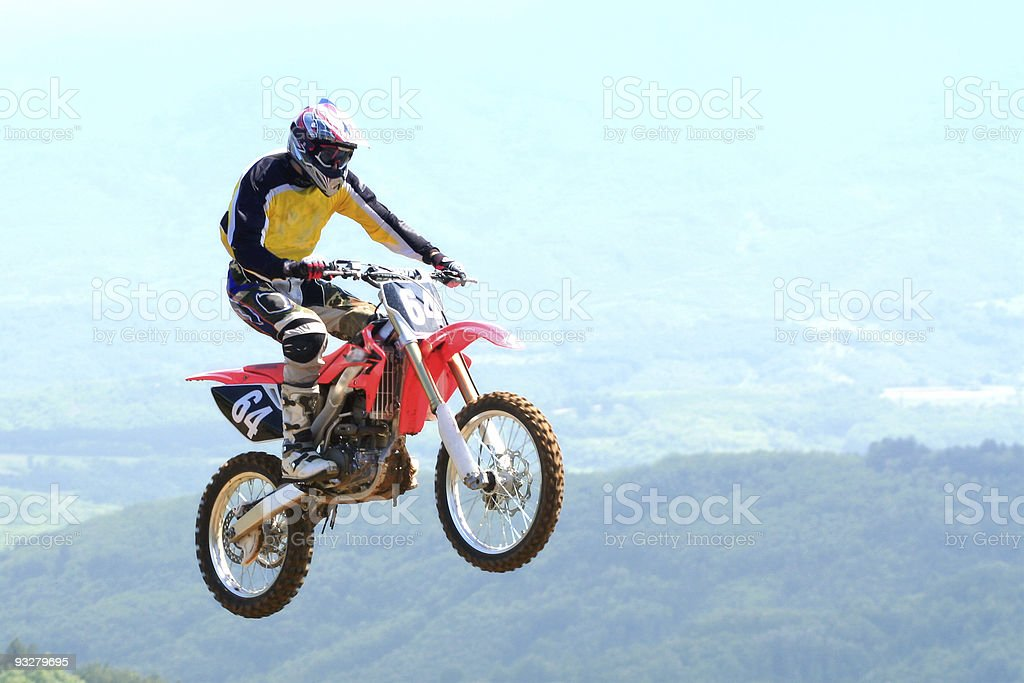 motocross jumping royalty-free stock photo