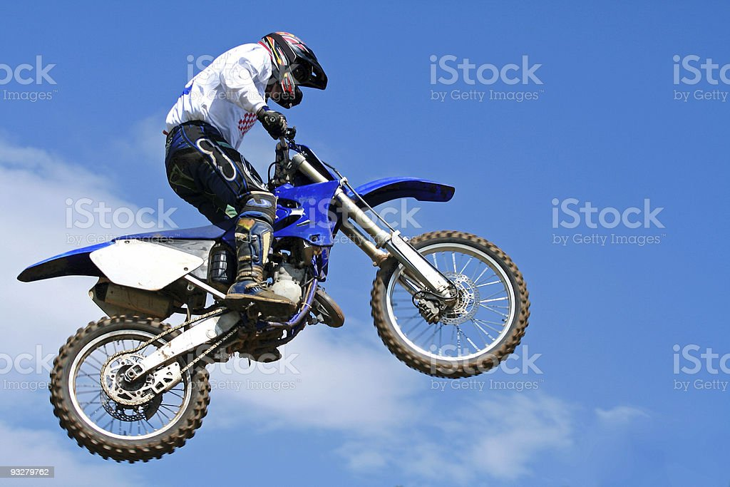 motocross jumping stock photo