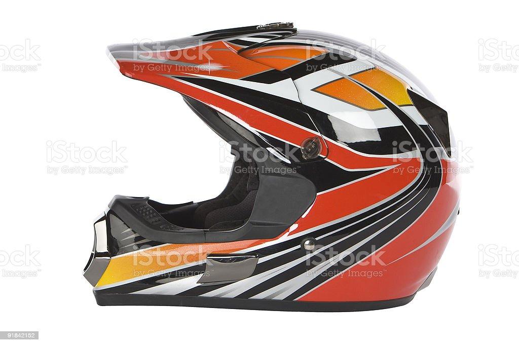 motocross motorcycle helmet stock photo