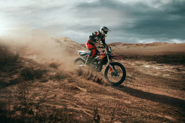motocross - motorbike racing stock photos and pictures