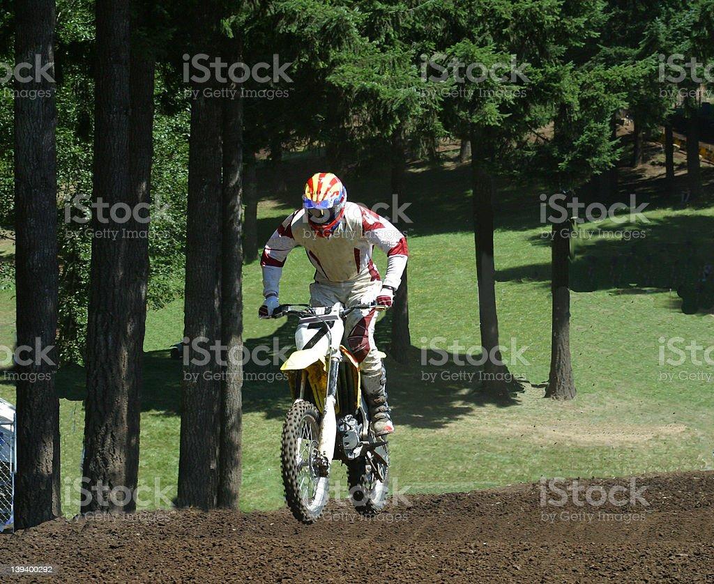 Motocross Race in the Trees stock photo