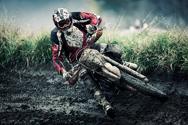 motocross rider - motorbike racing stock photos and pictures