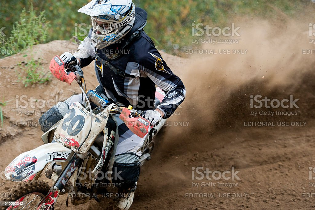 Motocross Rider Race stock photo