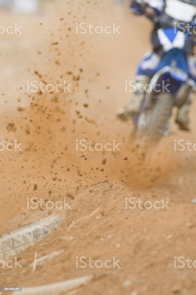 Motocross Roost royalty-free stock photo