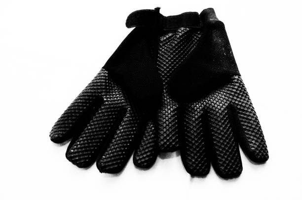 Motocross sports gloves, pair gloves stock photo