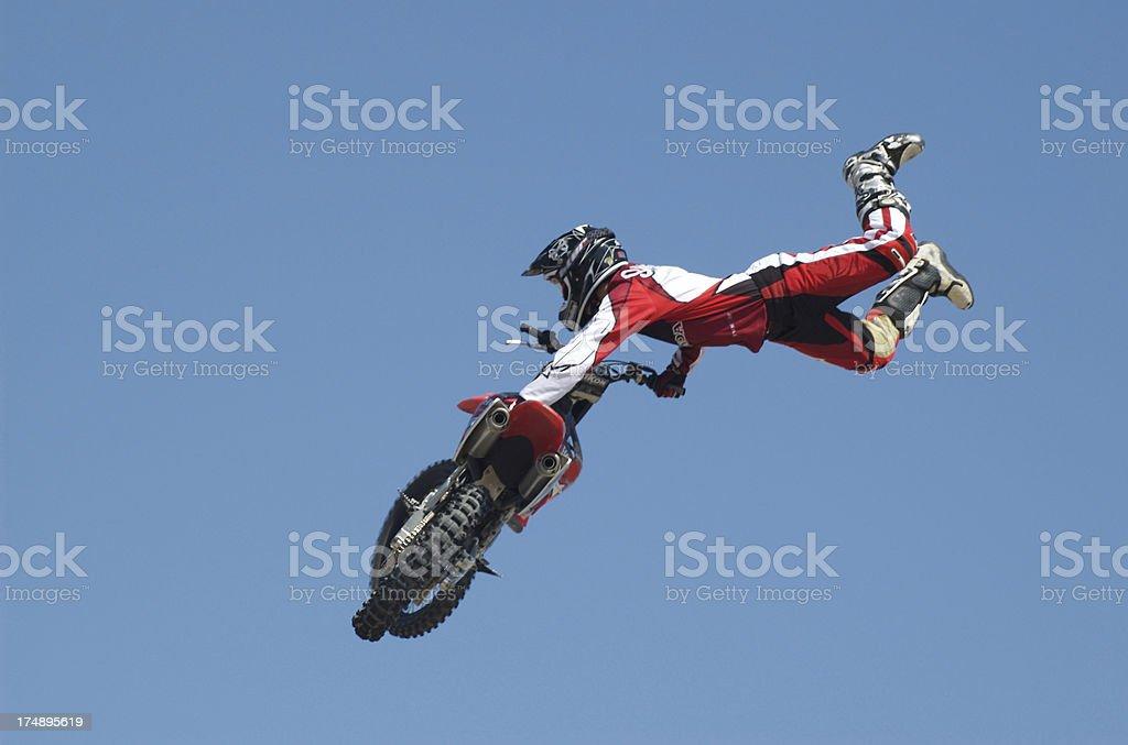 Motocross trick stock photo