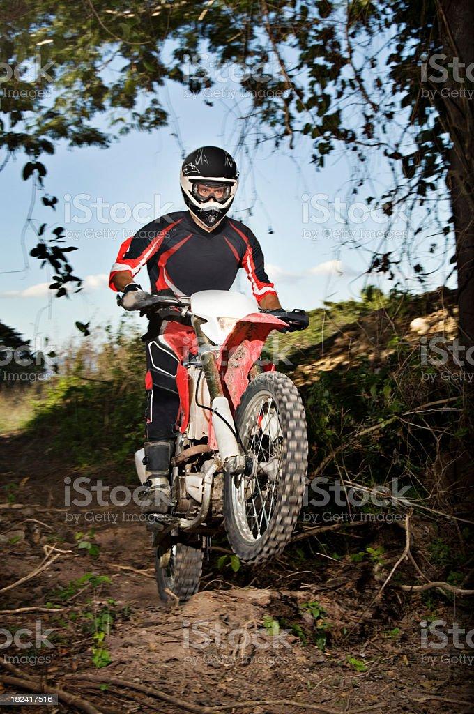 Motocross Wheelie Vertical royalty-free stock photo