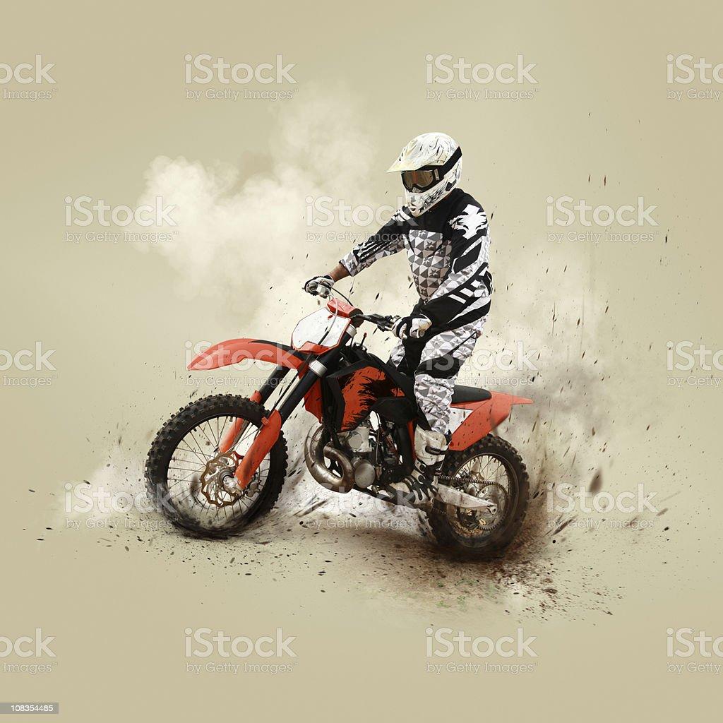 Motocrossing Konkurrent auf dem Motorrad – Foto