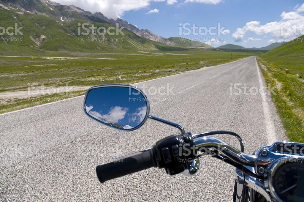motoecycles landscape royalty-free stock photo