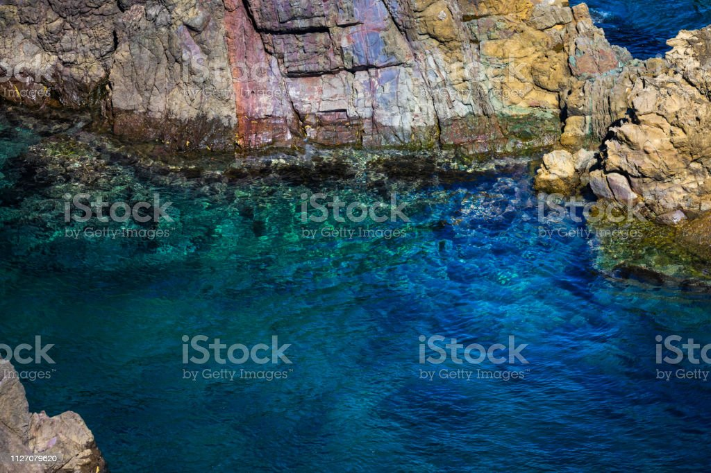 Motonosumi Inari Shrine Rock Formations stock photo