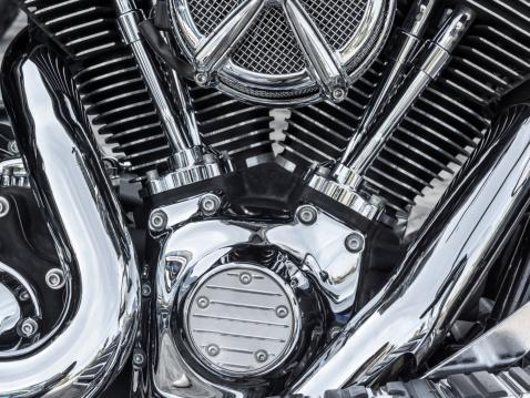 Motor bike detail - Engine block