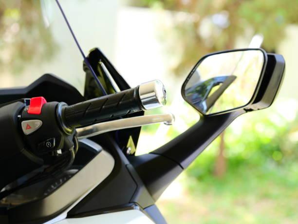 Motor bike handlebar stock photo