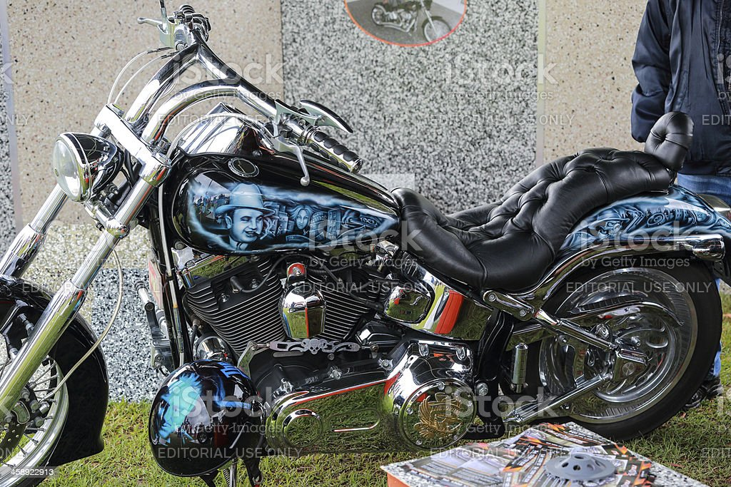 Motor bike on display at car show royalty-free stock photo