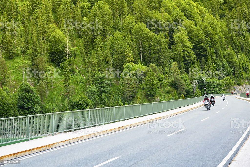 Motor bikes on highway royalty-free stock photo