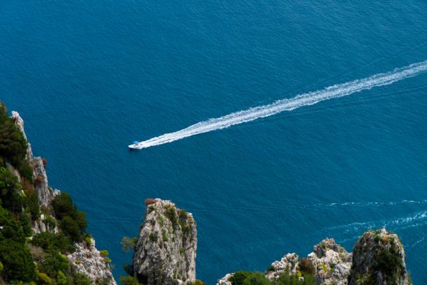 Motorboot im Mittelmeer – Foto
