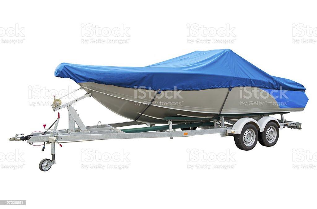 Motor boat stock photo