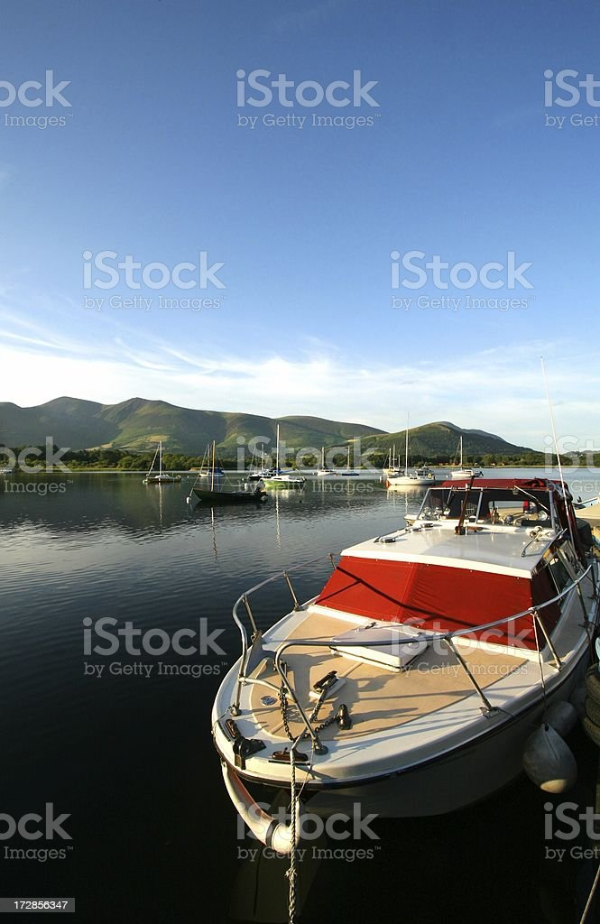 Motor boats and yachts stock photo