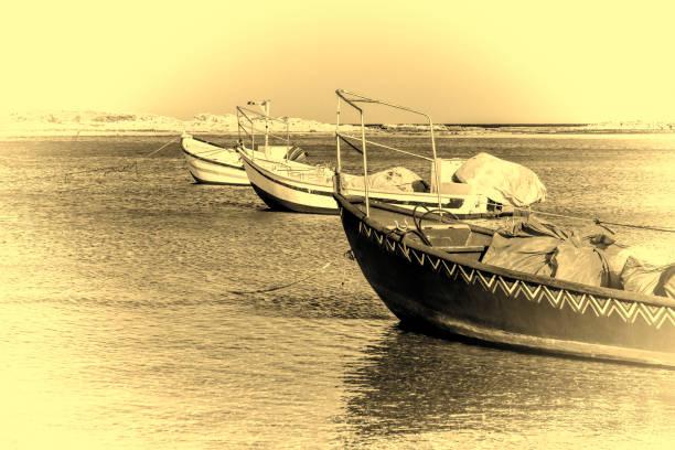 motor boats at the beach - fishman imagens e fotografias de stock