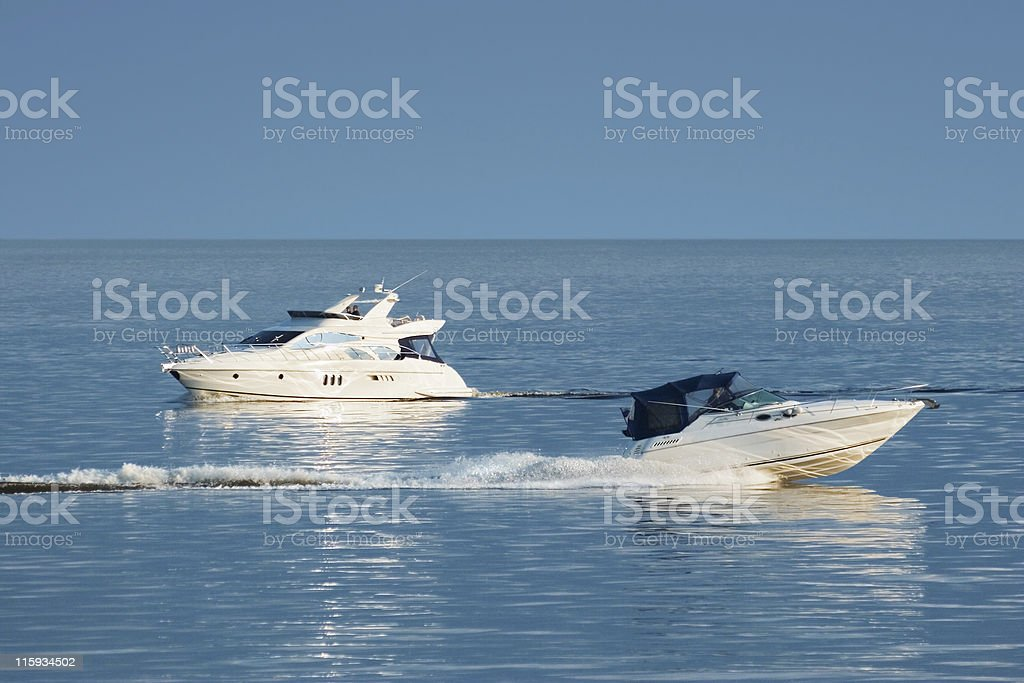 Motor boats royalty-free stock photo