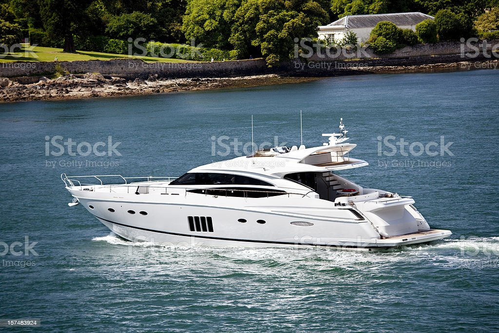 Motor cruiser royalty-free stock photo