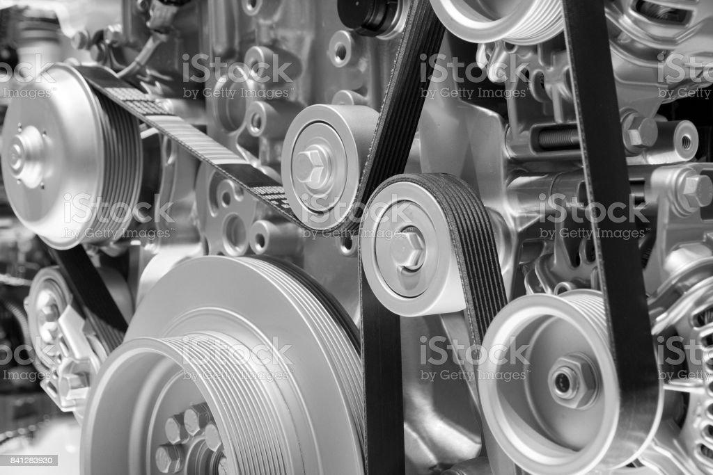 Motor engine close up stock photo