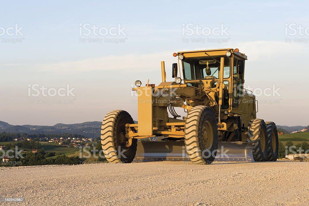 Motor Grader stock photo