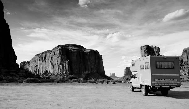Motor Home Driving in Monument Valley.