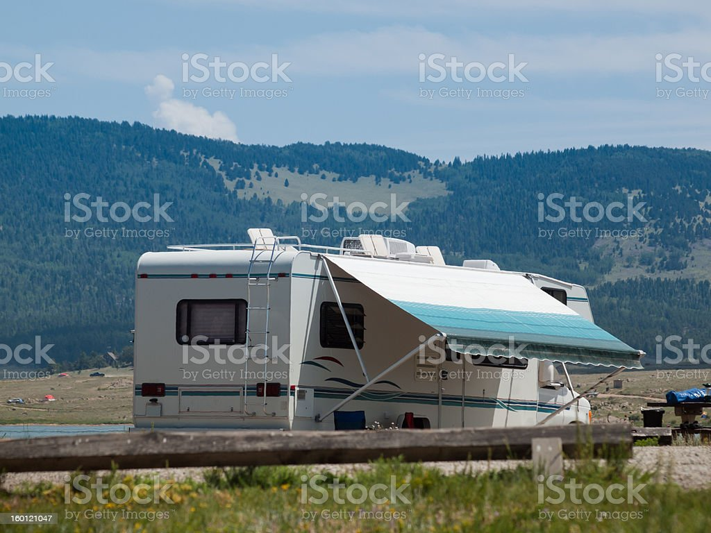 Motor Home stock photo