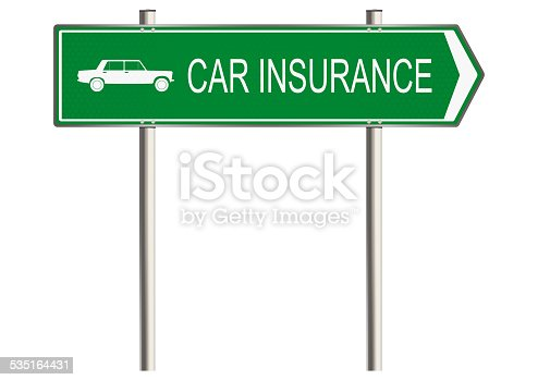 istock Motor insurance sign 535164431