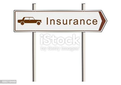 istock Motor insurance sign 535219449