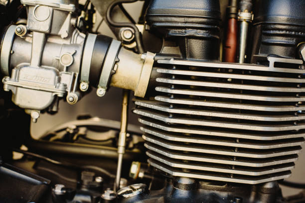 Motor of a powerful motorcycle Motor of a powerful motorcycle carburetor stock pictures, royalty-free photos & images