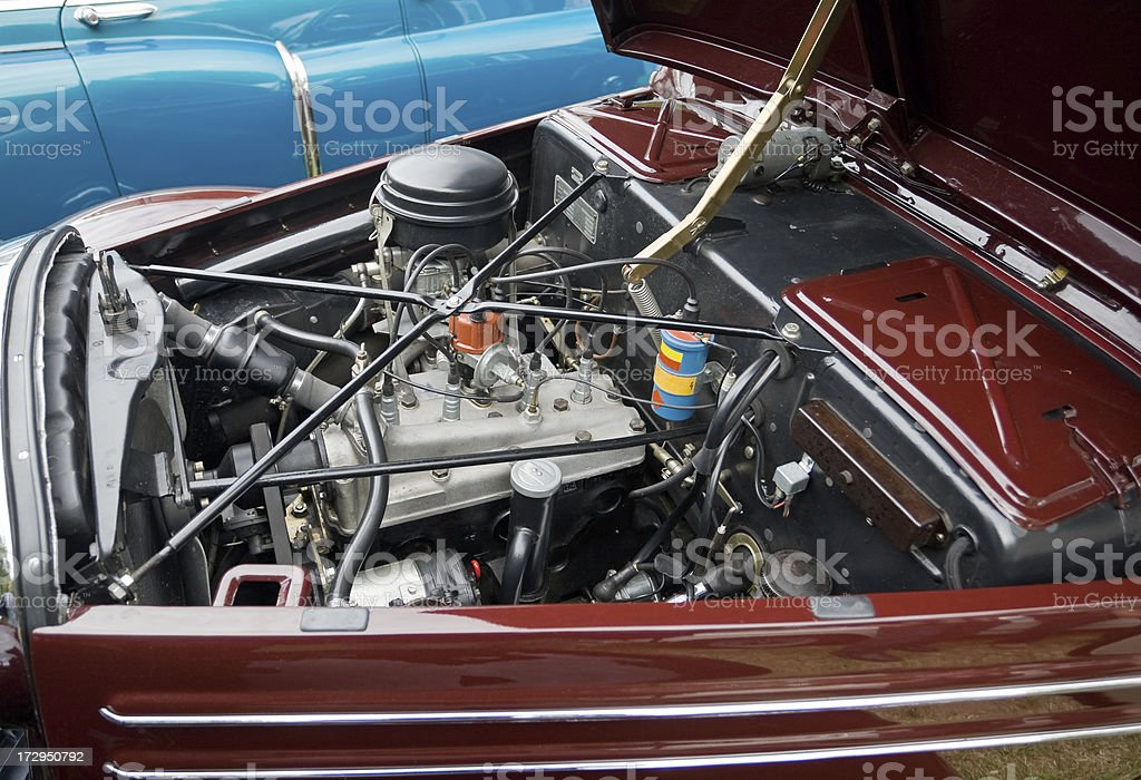 Motor Of An Old Car royalty-free stock photo