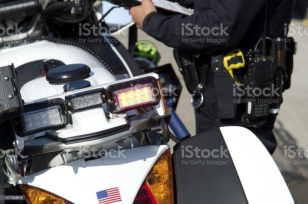 Motor officer stock photo