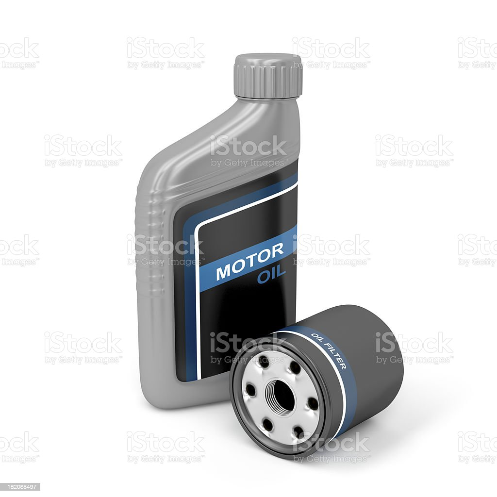 Motor oil and filter stock photo