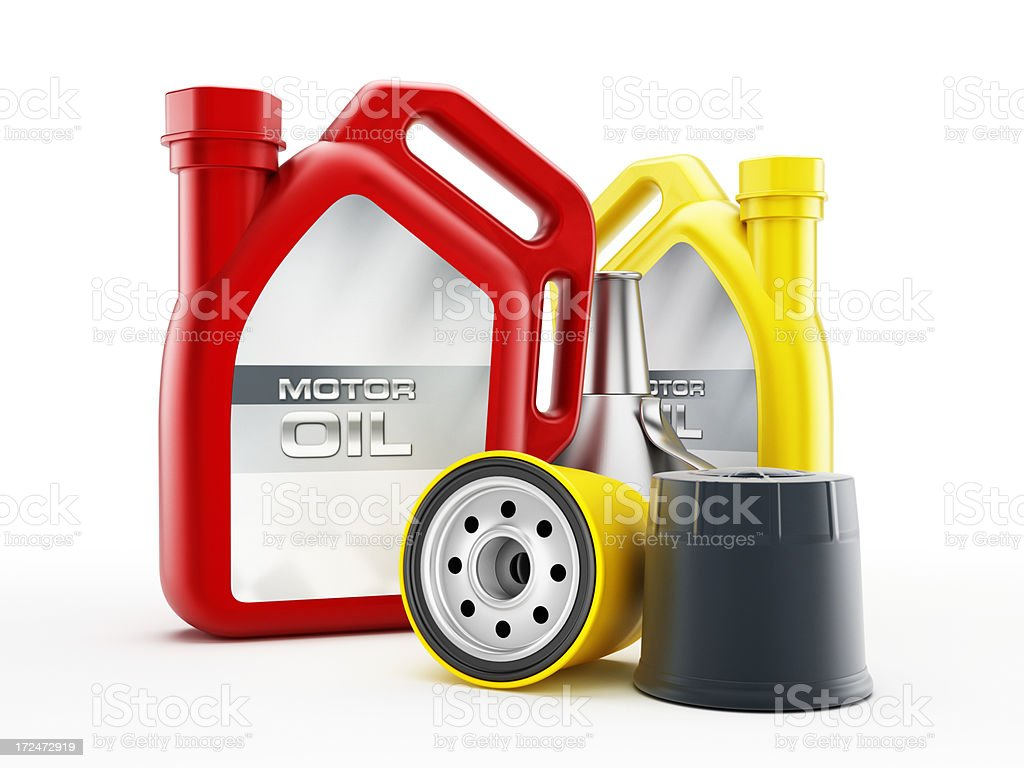 Motor oil change stock photo
