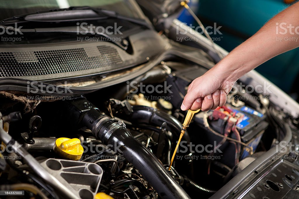 Motor Oil Control royalty-free stock photo