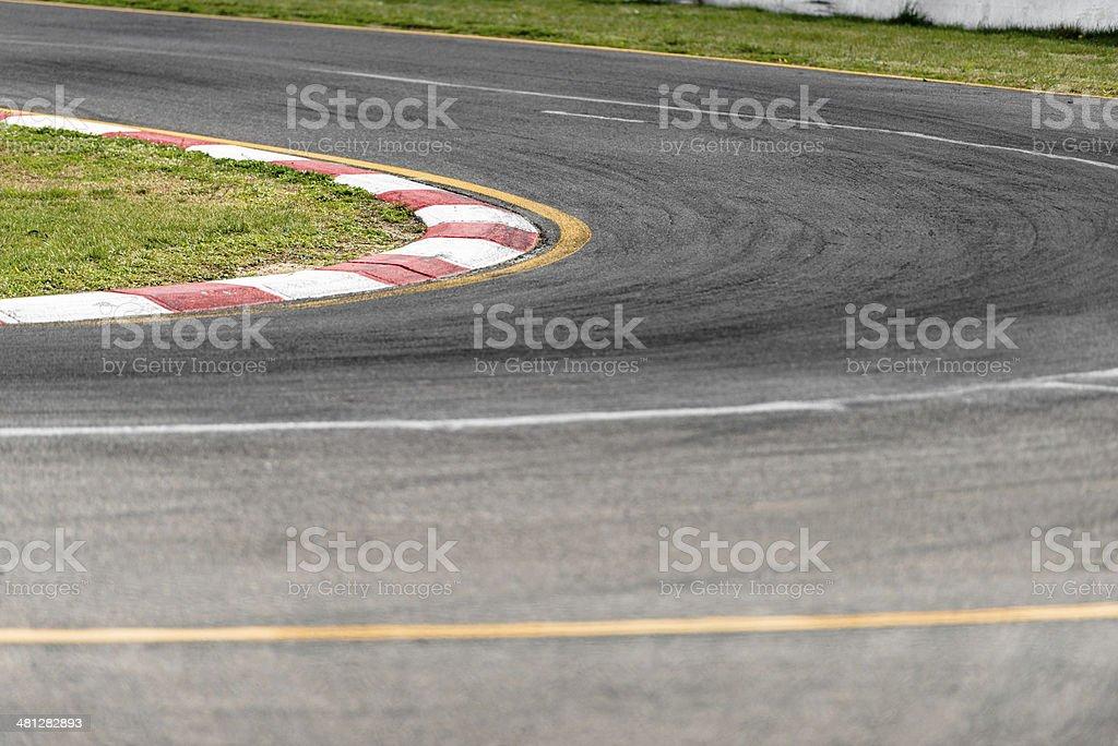 motor racing track stock photo