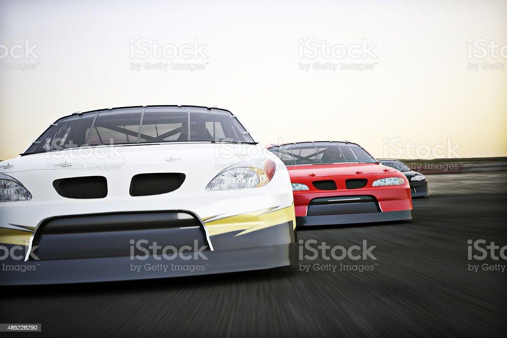 Motor sports racing stock photo