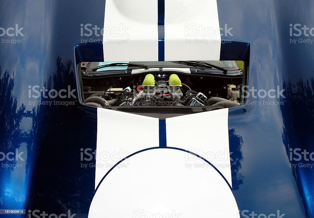 Motor Threw Air Scoop royalty-free stock photo
